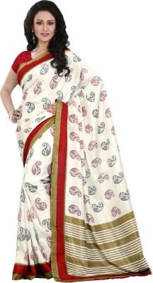 Right Shape Printed Bollywood Art Silk Sari