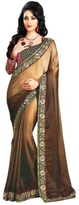 shree khodal enterprise Embriodered Bollywood Georgette Sari