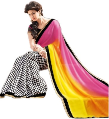 Wama Fashion Printed Garad Chiffon Sari