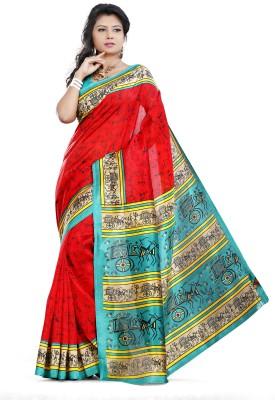 Fabgruh Printed Fashion Dupion Silk Sari