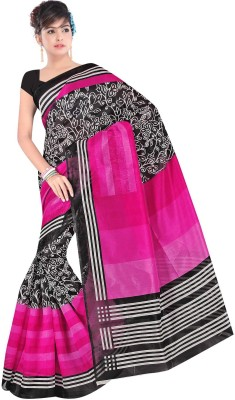 Textilebaba Printed Fashion Handloom Art Silk Sari
