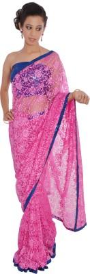 Inblue Fashions Floral Print Fashion Jacquard Sari