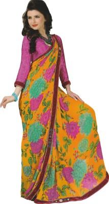Mananstha Fashions Printed, Embellished Fashion Georgette Sari