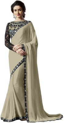 Bluebird Impex Plain, Self Design Bollywood Lace Sari