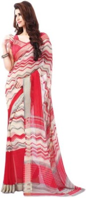 AC Creation Printed Fashion Synthetic Chiffon Sari