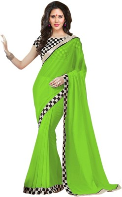 Aanaya Fashions Self Design Bollywood Georgette Sari