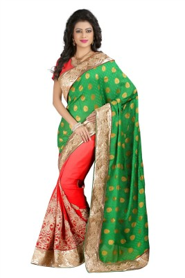 N Paraswanath Embriodered Bollywood Georgette Sari