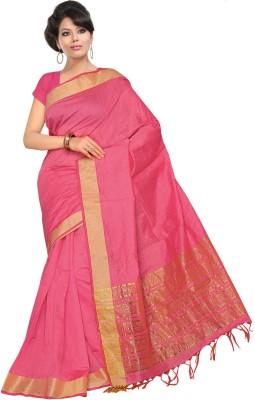 Fashion Tadka Plain Tant Silk Sari