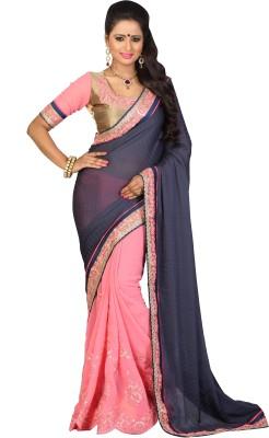 Fashionista Embriodered Fashion Jacquard Sari