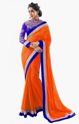 Vishal99 Embriodered Bollywood Georgette Sari