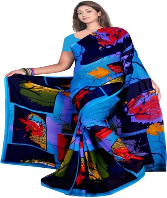 Kristel Garments Floral Print Bollywood Georgette Sari