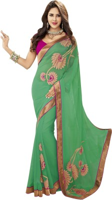 Thanvi Fashion Embriodered Bollywood Chiffon Sari