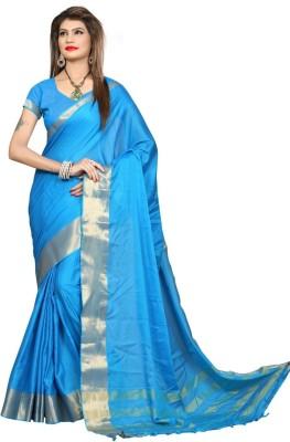 Shobha Sarees Self Design Bomkai Cotton Linen Blend Sari