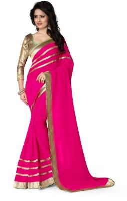zhenith creation Embellished Fashion Georgette Sari