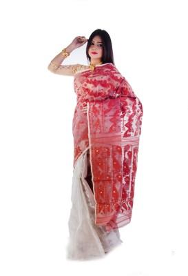 Aryya Self Design Jamdani Silk Sari
