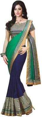 Kuvarba Fashion Printed Fashion Georgette Sari