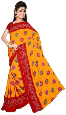 Friendlyfab Printed Bandhani Georgette Sari