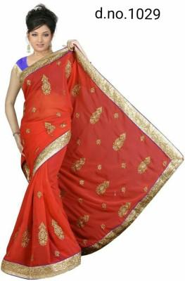 Radhe Fashion Embriodered Fashion Handloom Cotton Sari