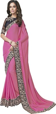 Manish Creation Embriodered, Self Design Bollywood Chiffon, Georgette, Silk, Net Sari