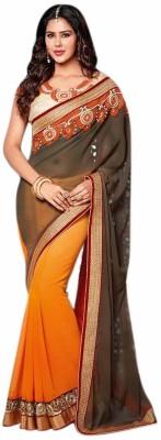 Srinaam Self Design Bollywood Georgette Sari
