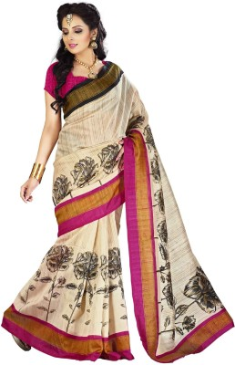 Cutie Pie Printed Fashion Handloom Silk Sari