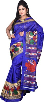 Glamorous Lady Printed Bhagalpuri Banarasi Silk Sari