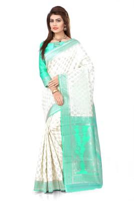 Om Shantam Sarees Self Design Banarasi Banarasi Silk, Jacquard Sari