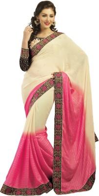 Admyrin Solid Fashion Georgette, Satin Sari