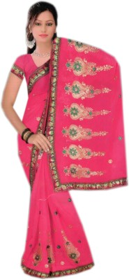 Shree Sanskruti Embellished Fashion Chiffon Sari