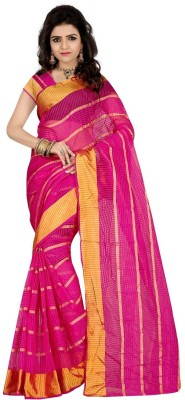 DealSeven Fashion Printed Daily Wear Tissue Silk Sari
