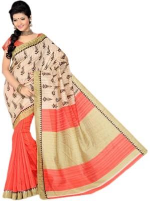 Jhankar Fab Printed Bhagalpuri Cotton Sari