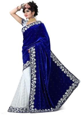 Chamunda Enterprise Embriodered Bollywood Velvet, Brasso Fabric Sari