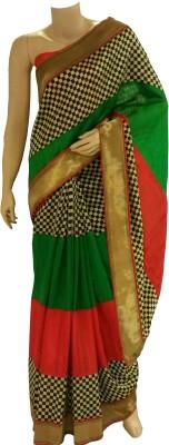 BEAUVILLE VAIIBAVAM Checkered Fashion Raw Silk Sari