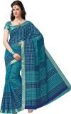 Suhanee Printed Gadwal Cotton Saree (Blu...