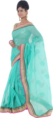 Vikrant Collections Embriodered Bollywood Jute Sari
