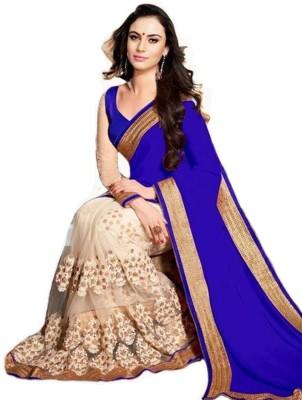 Kavita Fashion Floral Print Fashion Georgette Sari