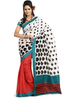Prafful Geometric Print Fashion Silk Sari
