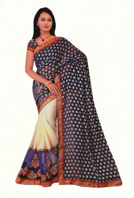Agarwal Fashions Embriodered Fashion Brasso Sari