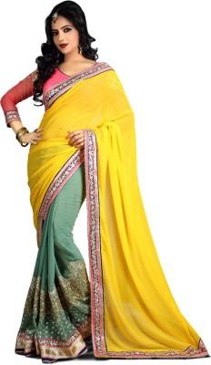 Heaven Deal Embellished Fashion Georgette Sari