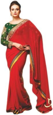 Kia Fashions Self Design Fashion Handloom Georgette Sari