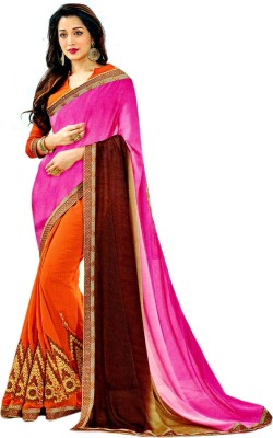 Indrakshi Collections Embriodered Bollywood Synthetic Sari