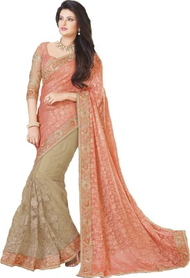 Reet Creation Embriodered Fashion Brasso, Net Sari