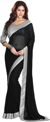Muta Fashions Solid Bollywood Synthetic Georgette Sari