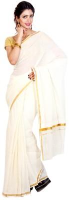 Creative Weaves Plain Fashion Cotton Sari