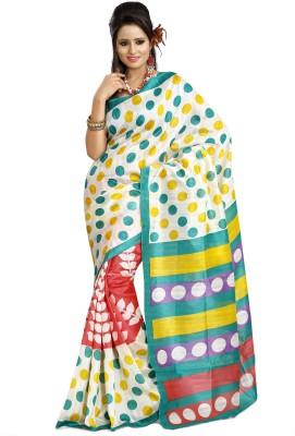 Prafful Polka Print Fashion Silk Sari
