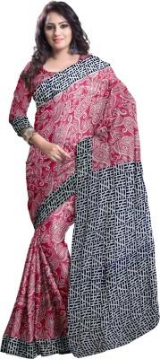 Komal Sarees Self Design, Printed Bollywood Cotton Sari