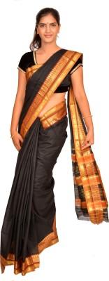 Jagadamba Solid Fashion Cotton Sari