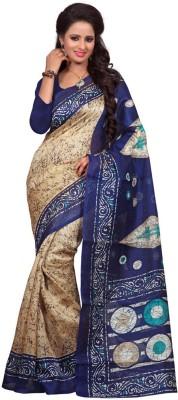 The Fancy Sarees Printed Mysore Poly Silk Sari