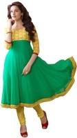 KrishnaFashion321 Georgette Embroidered Semi-stitched Salwar Suit Material