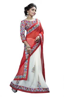 Aai Shree Khodiyar Art Floral Print Bollywood Georgette Sari